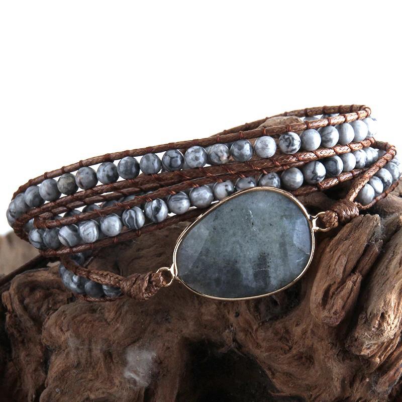 natural-stone-wrap-bracelet-boho-handmade-beaded-gray-agate-BR-15453-15459
