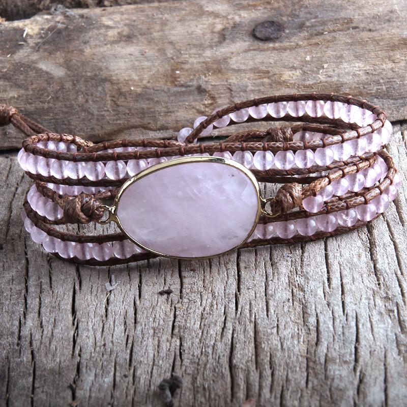 natural-stone-wrap-bracelet-boho-handmade-beaded-rose-quartz-BR-15453-15464
