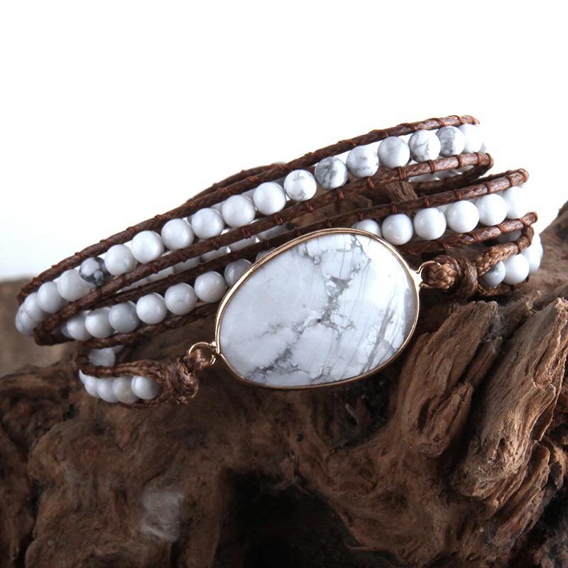 natural-stone-wrap-bracelet-boho-handmade-beaded-white-turquoise-BR-15453-15463