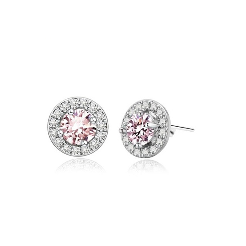 pink-cubic-zirconia-round-earrings-copper-small-stud-EAR-15125-15128