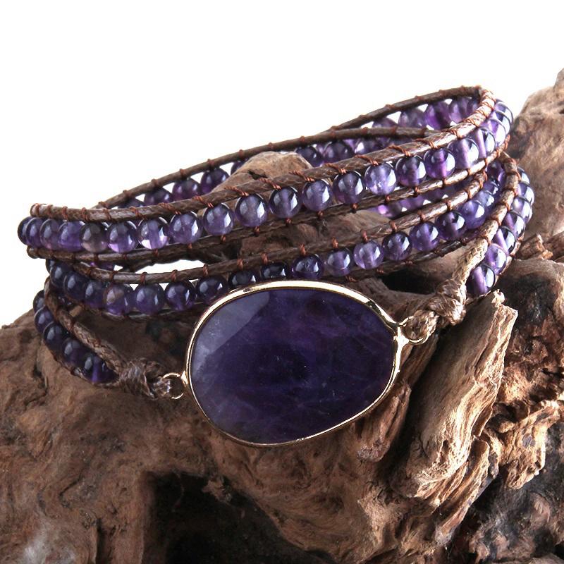 purple-quartz-natural-stone-wrap-bracelet-boho-handmade-beaded-BR-15453-15461