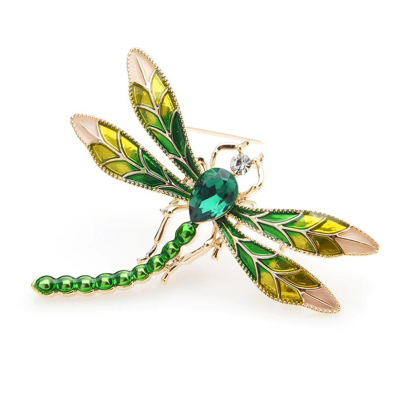 wedding-pin-green-crystal-dragonfly-brooch-enamel-PN-15092
