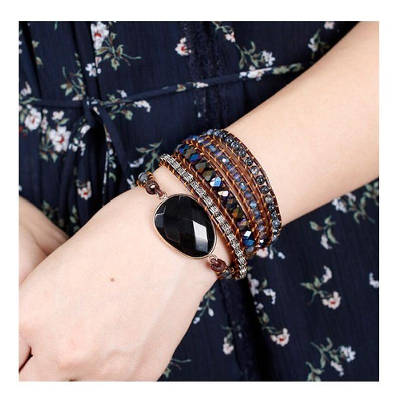 bohemian-bracelet-black-onyx-wrap-leather-agate-BR-15708