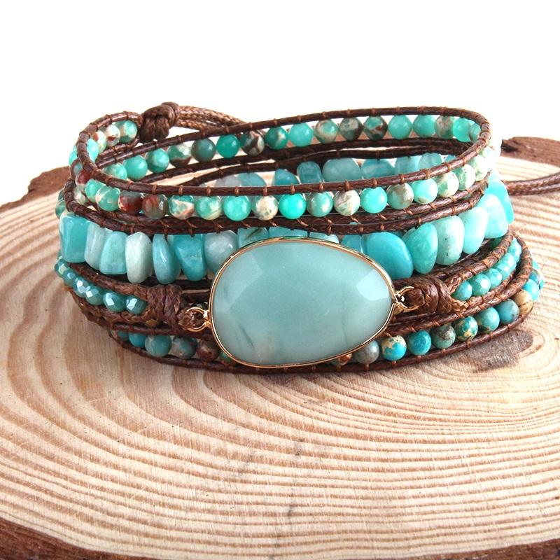 bohemian-handmade-wrap-bracelet-natural-stones-blue-amazonite-BR-15488-15490