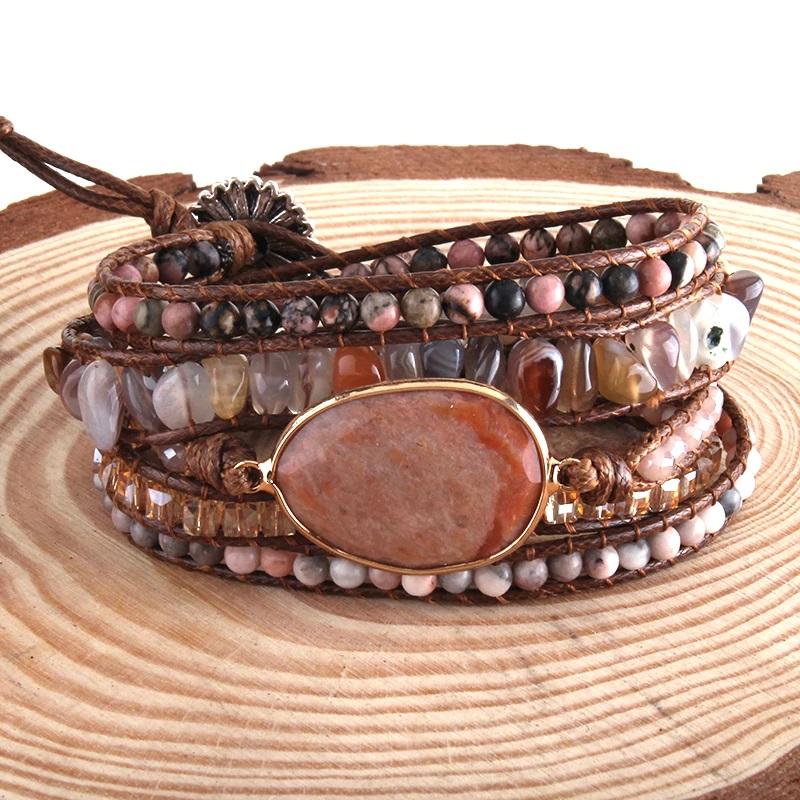 bohemian-handmade-wrap-bracelet-natural-stones-red-agate-BR-15488-15497