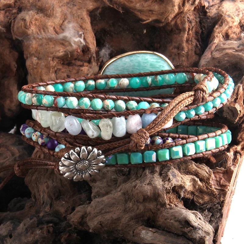 bohemian-handmade-wrap-bracelet-natural-stones-white-amazonite-BR-15488-15499