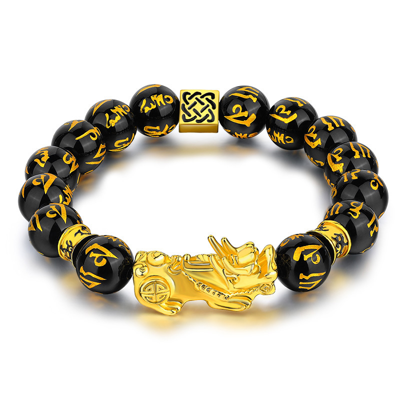 Handmade Good Luck Bracelet Feng Shui Black Wood