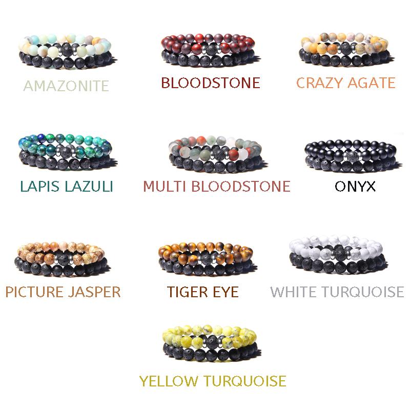 lava-stone-couple-bracelet-multi-stones-stretch-BR-15564