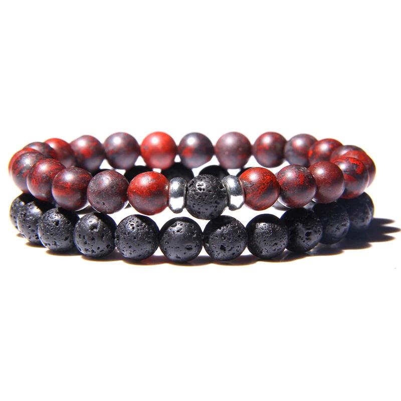lava-stone-couple-bracelet-multi-stones-stretch-bloodstone-BR-15564