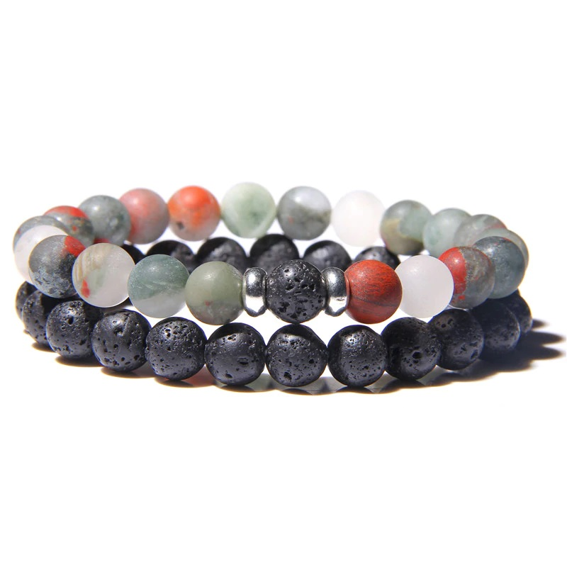 lava-stone-couple-bracelet-multi-stones-stretch-multi-bloodstone-BR-15564