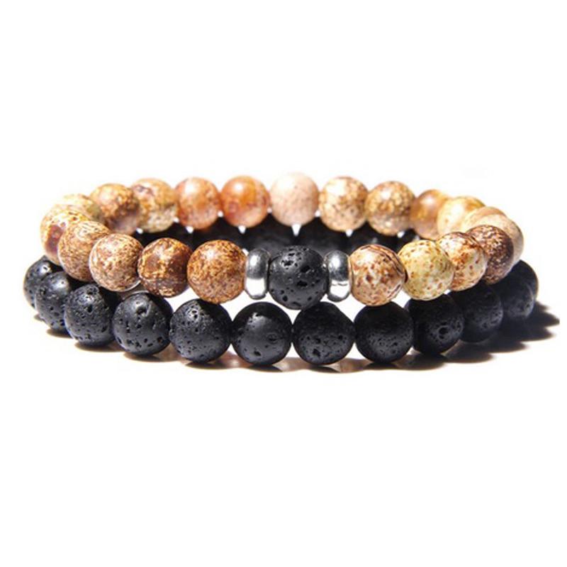 lava-stone-couple-bracelet-multi-stones-stretch-picture-jasper-BR-15564