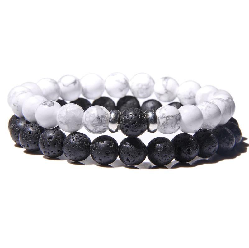 lava-stone-couple-bracelet-multi-stones-stretch-white-turquoise-BR-15564