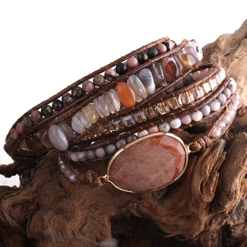 red-agate-bohemian-handmade-wrap-bracelet-natural-stones-BR-15488-15497