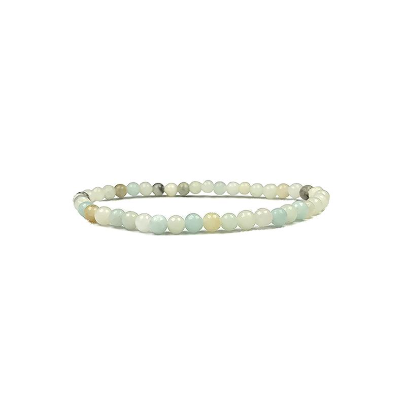 4mm-natural-stone-bracelet-stretch-beaded-trendy-amazonite-BR-15784-15790
