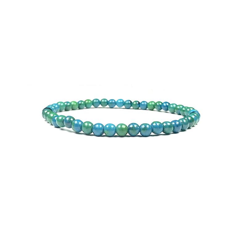 4mm-natural-stone-bracelet-stretch-beaded-trendy-azurite-chrysocolla-BR-15784-15791