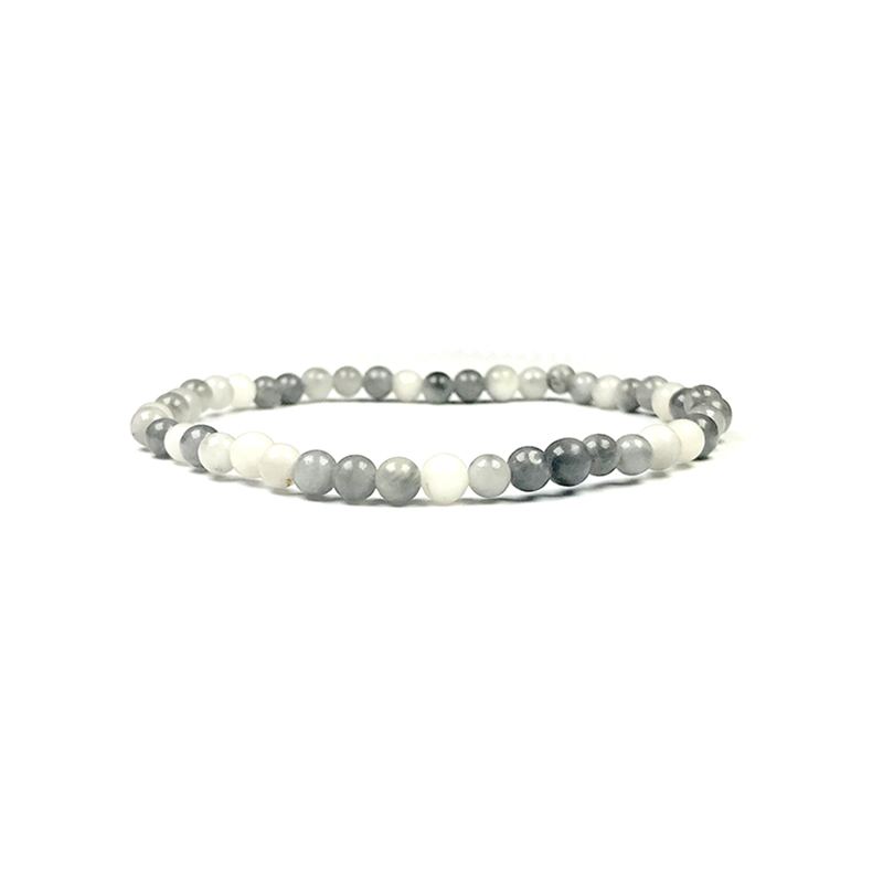 4mm-natural-stone-bracelet-stretch-beaded-trendy-grey-agate-BR-15784-15801