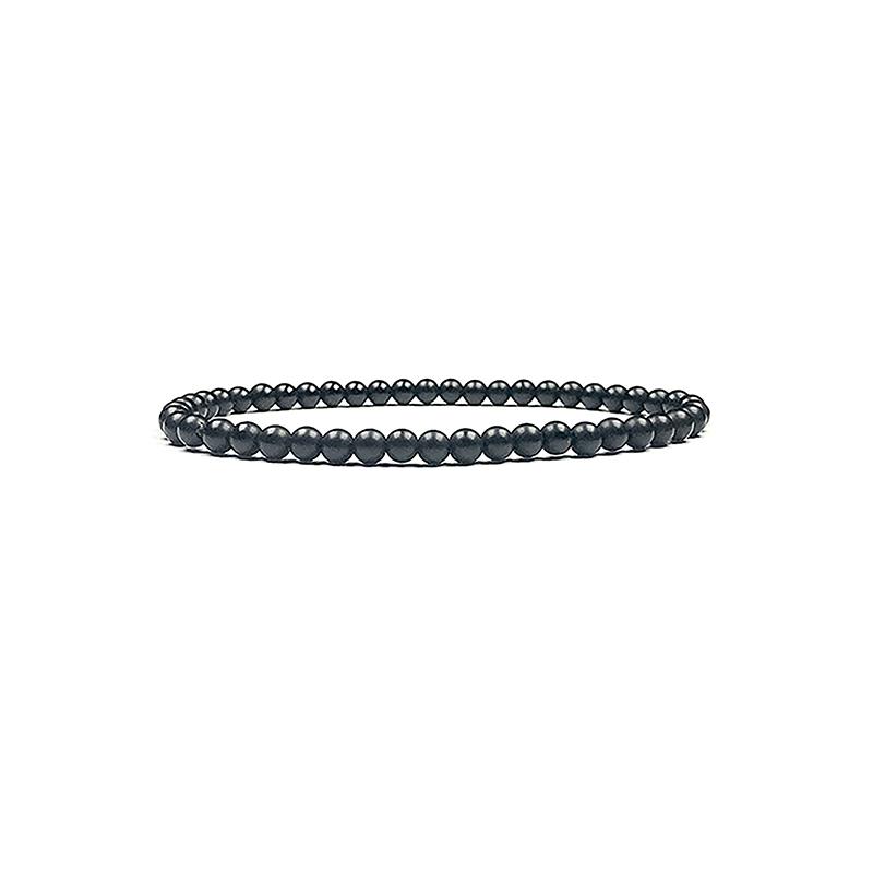 4mm-natural-stone-bracelet-stretch-beaded-trendy-matte-black-onyx-BR-15784-15809