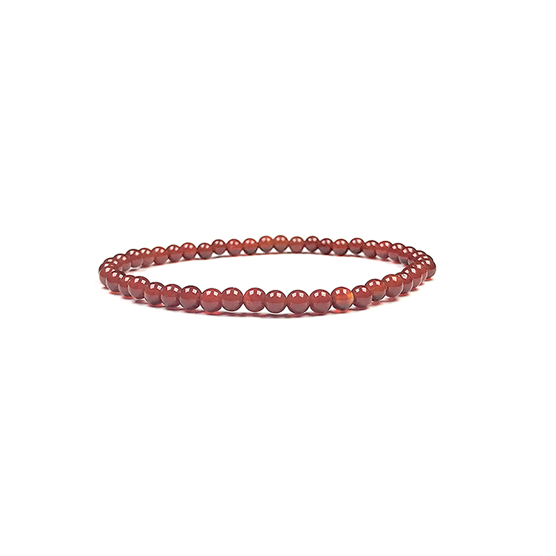 4mm-natural-stone-bracelet-stretch-beaded-trendy-red-agate-BR-15784-15811