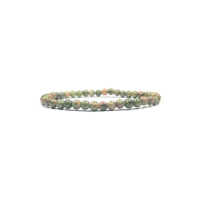 4mm-natural-stone-bracelet-stretch-beaded-trendy-unakite-BR-15784-15816