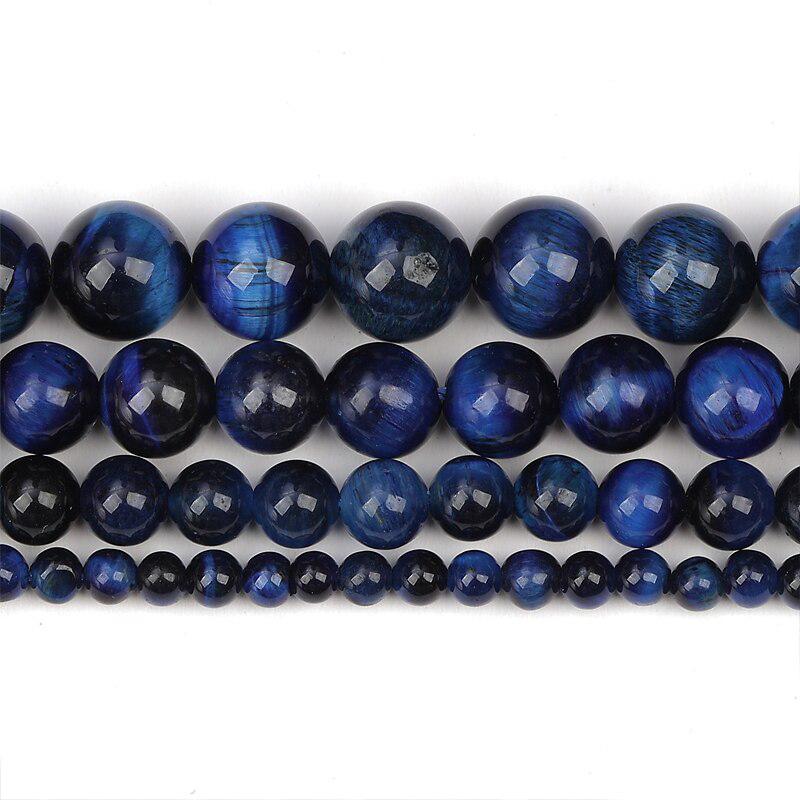 "Blue Tiger Eye 15"" Strand Jewelry Making Beads"