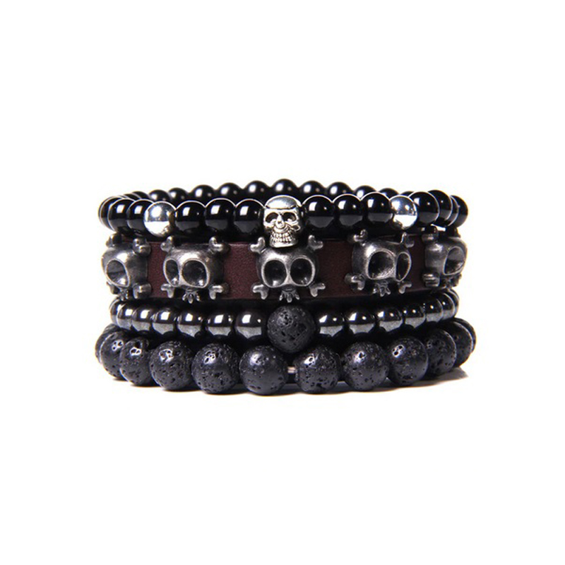 leather-beaded-men-bracelet-set-natural-stones-b-BR-16057-16067