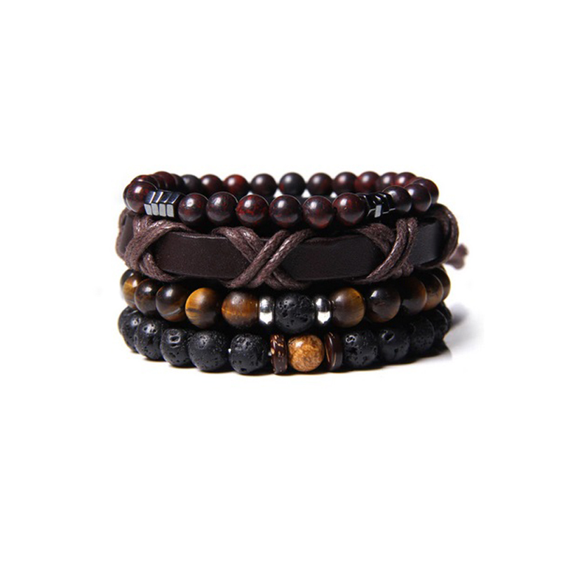leather-beaded-men-bracelet-set-natural-stones-e-BR-16057-16064
