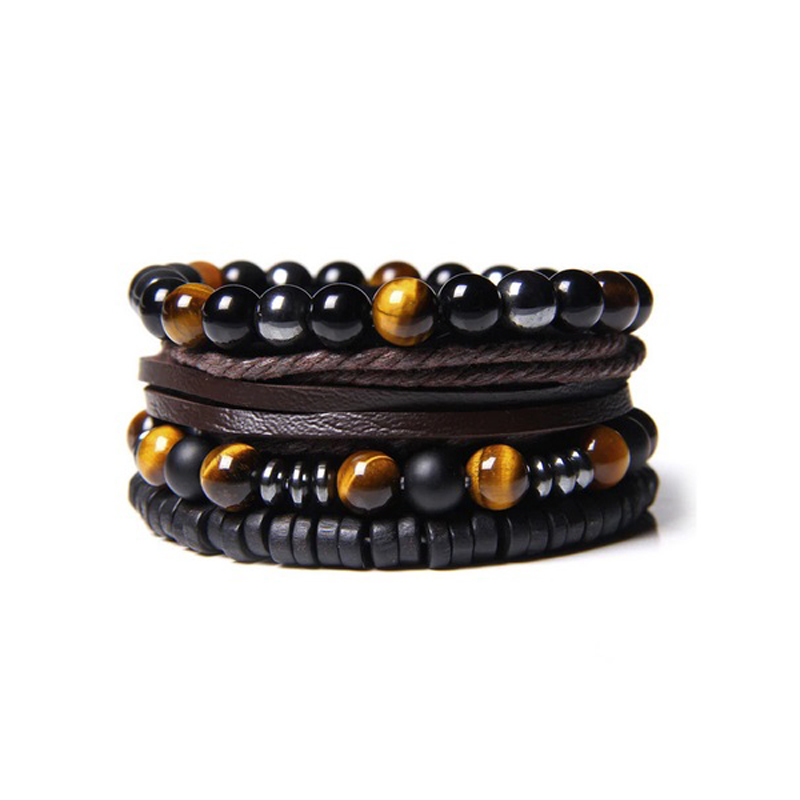 leather-beaded-men-bracelet-set-natural-stones-k-BR-16057-16058