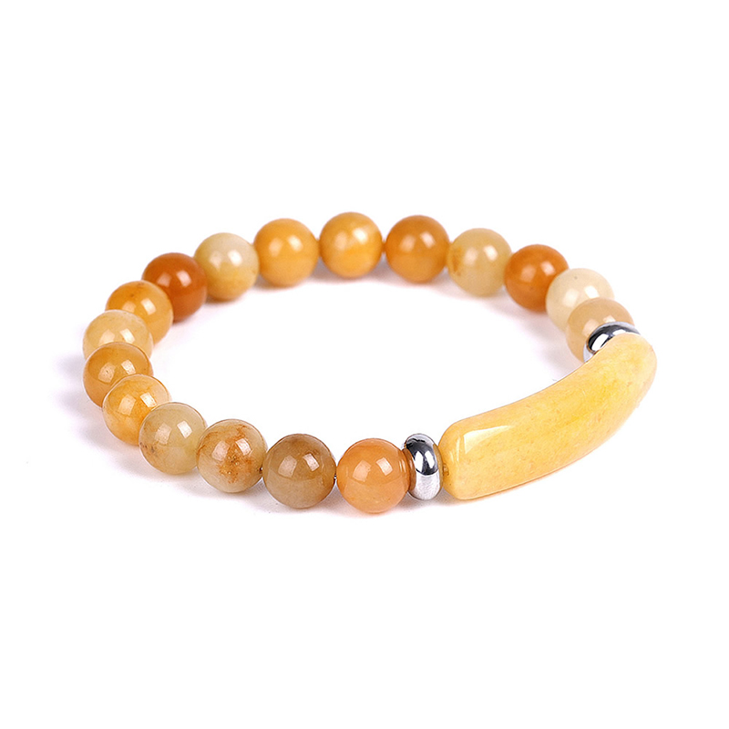 rectangle-bar-beaded-bracelet-natural-stones-stretch-yellow-jade-BR-16015-16016
