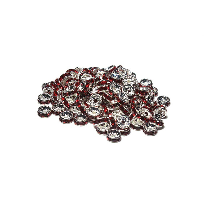 Spacer Beads Copper Silver Plated Wholesale Rhinestone
