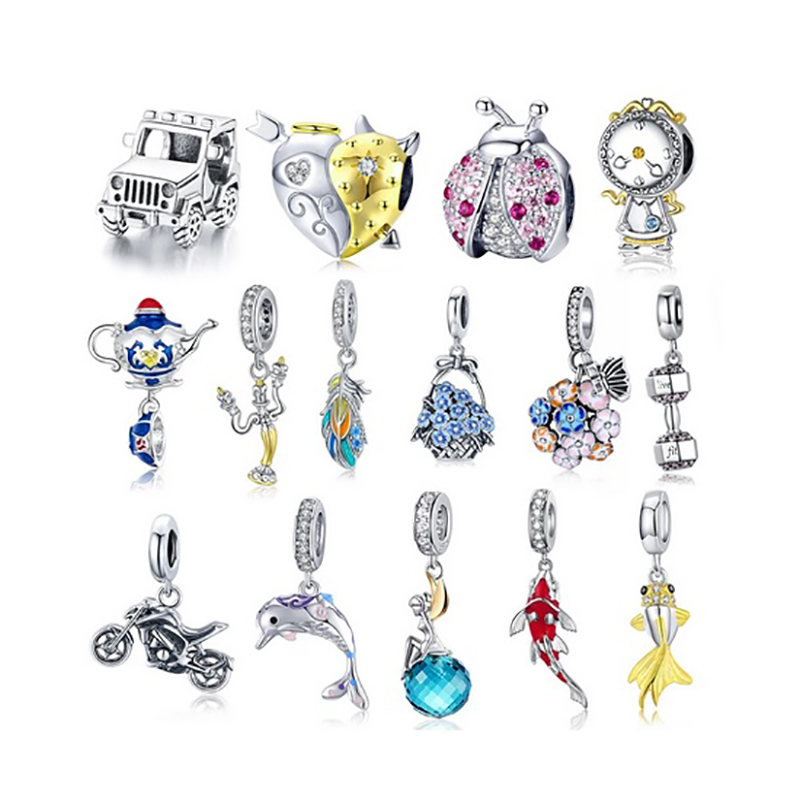 925 Sterling Silver Charms for Women's Bracelets