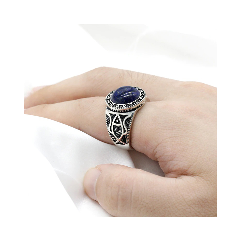 antique-style-mens-ring-925-sterling-silver-lapis-lazuli-RNG-16456