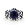 Antique Style Men's Ring Lapis Lazuli 925 Sterling Silver