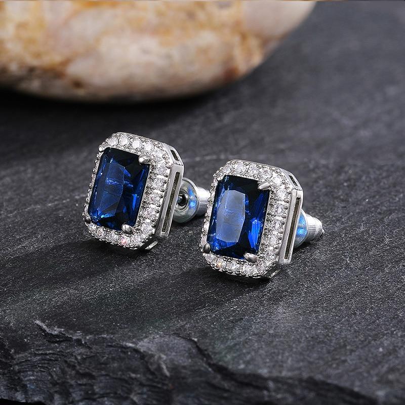 cubic-zirconia-stud-earrings-fine-jewelry-gift-rectangular-blue-EAR-16278