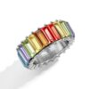 Dainty Crystal Fashion Rings for Women Multi-Color