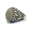 Indian Agate Ring for Men 925 Sterling Silver