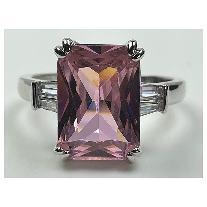 Luxury Solitaire Rectangle Ring Wedding CZ Fashion