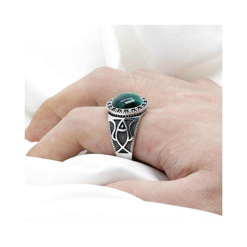 malachite-stone-ring-925-sterling-silver-mens-RNG-16474