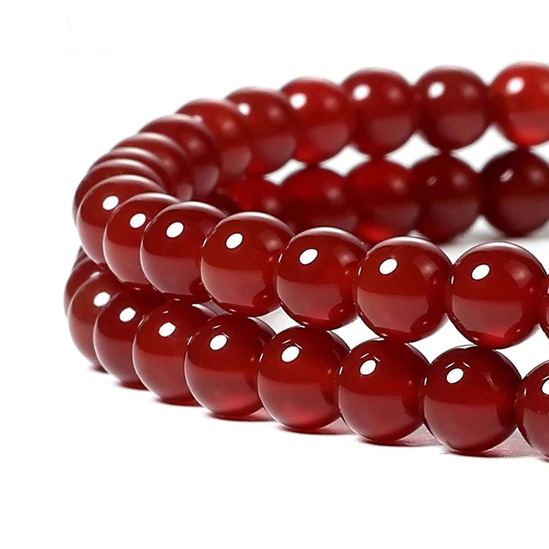 Red Agate Natural Stones 4-12mm Jewelry Making Beads