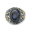 Turkish Agate Cocktail Ring for Men CZ 925 Sterling Silver