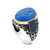 turkish-style-mens-ring-blue-zircon-agate-s925-RNG-16464
