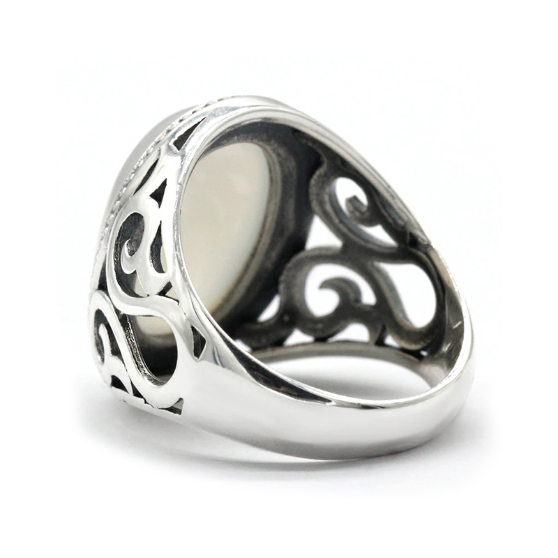 turkish-style-white-ring-for-men-agate-silver-RNG-16387