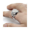 turkish-white-ring-for-men-style-agate-silver-RNG-16387