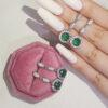 925-silver-zircon-earrings-stud-party-jewelry-f-green-EAR-16865-16873