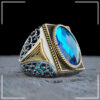 handmade-turkish-mens-ring-925-sterling-silver-zircon-blue-RNG-17045