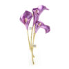 Lily Flower Brooch Pin Wedding Banquet Jewelry