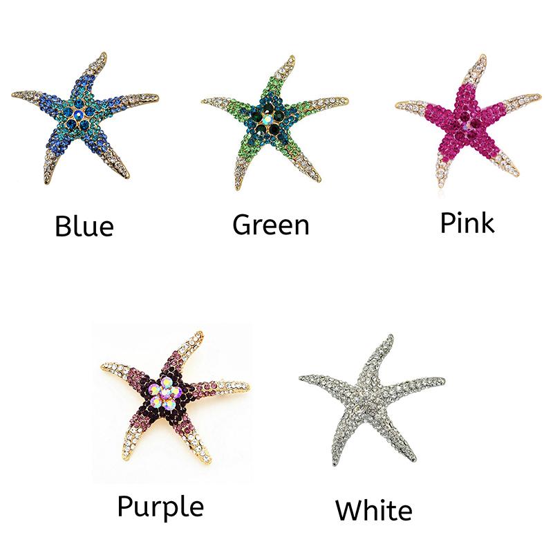starfish-rhinestone-brooch-pin-cute-decorating-jewelry-blue-green-pink-purple-white-PN-17105