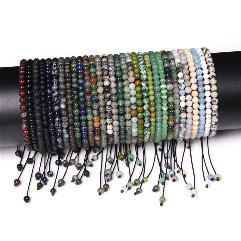 Beaded Braided Handmade Bracelet Adjustable Knot