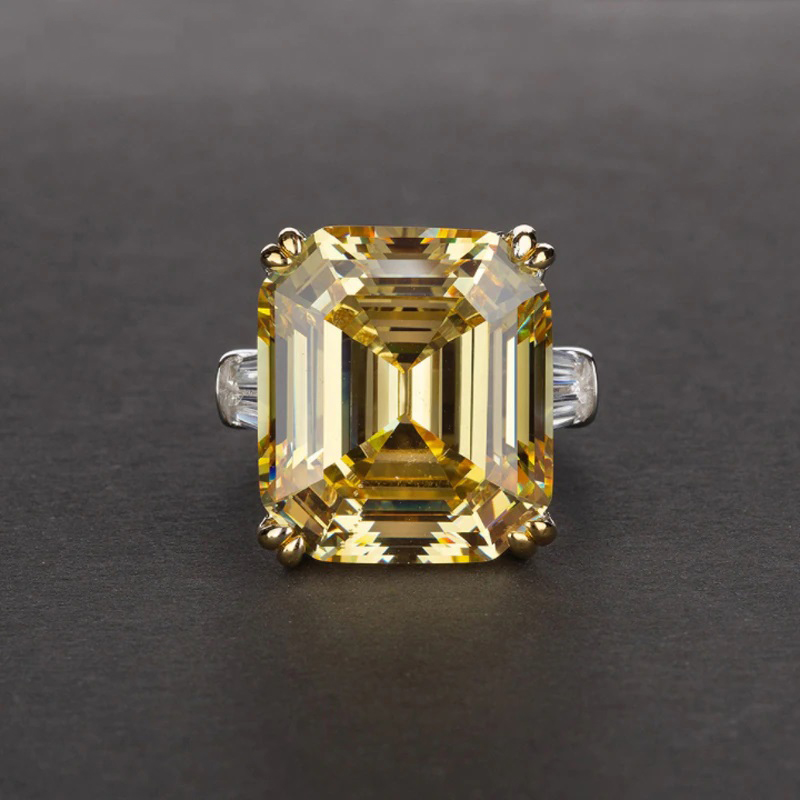 S925 Zircon Wedding Ring Luxurious Affordable Jewelry