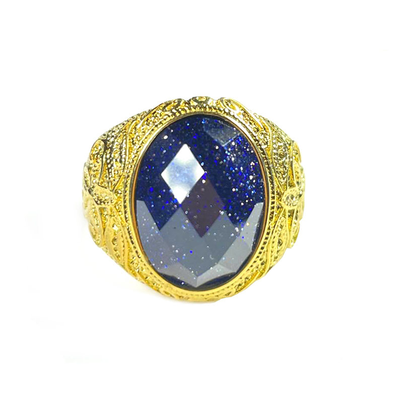 mens-ring-blue-sandstone-stainless-steel-gold-RNG-17523