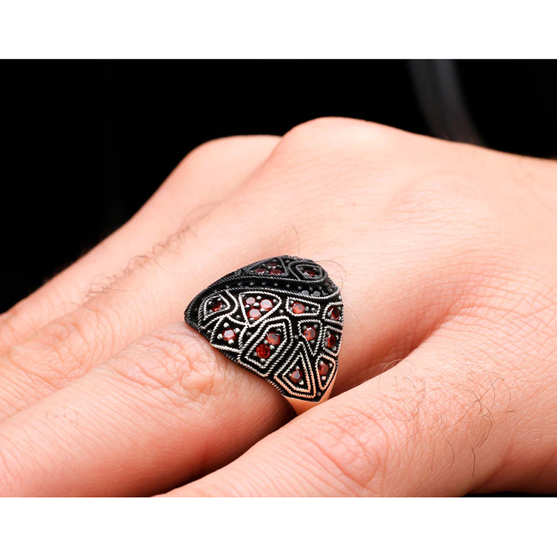 mens-ring-egyptian-style-925-sterling-silver-cz-RNG-17481